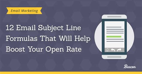 20 email subject lines that will get opened every time 12 email subject line formulas that will help boost your