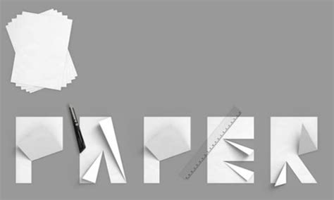 Folded Paper Font - folded paper font maikitten
