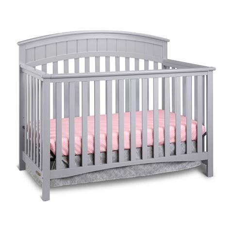 Graco Charleston Convertible Crib Graco Charleston 4 In 1 Convertible Crib In Pebble Gray Furniture D 233 Cor