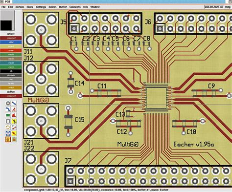 pcb layout software gnu open circuit design software