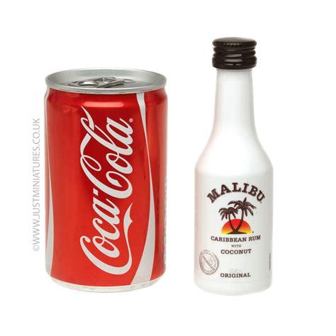 malibu coconut rum coke miniature mini can set