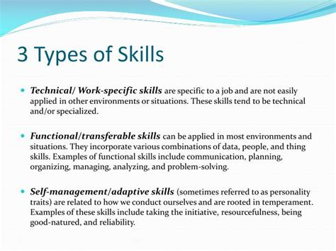 Types Of Skills For Resume by Types Of Resume Ppt Resume Ideas