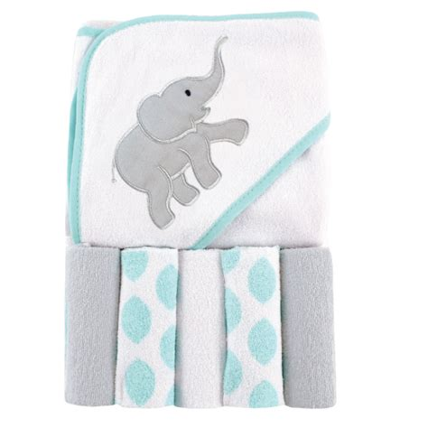 Bedong Luvable Planel 5 Pcs luvable friends hooded towel 5pcs wash clothes baby needs store malaysia
