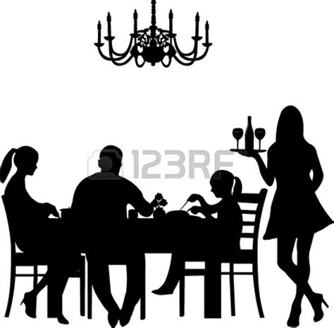 dinner silhouette family dinner table clipart clipart panda free clipart