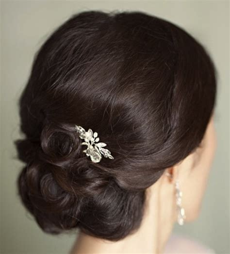 brunette hairstyles updos brunette curly chignon updo prom wedding party formal