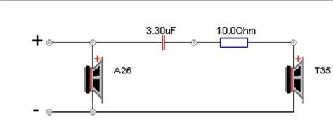 resistor in series with piezo tweeter seas a26 10 quot 2 way kit pair based on the classic a25