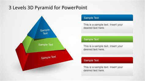 3d Pyramid Design Template For Powerpoint Slidemodel Powerpoint Pyramid Template