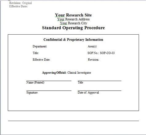 company sop template 37 best standard operating procedure sop templates