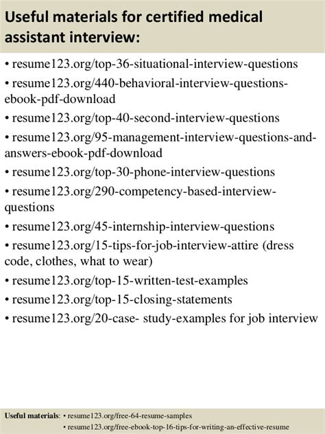 Job Resume Samples Objectives by Top 8 Certified Medical Assistant Resume Samples