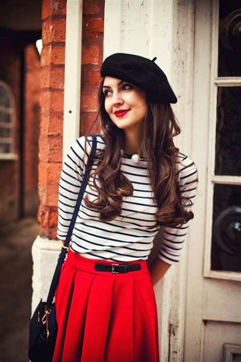 french women pinterest look of the day french beret galia thomas look of the