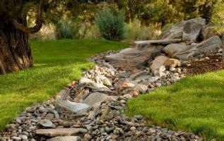 create  dry creek bed   backyard ponds backyard