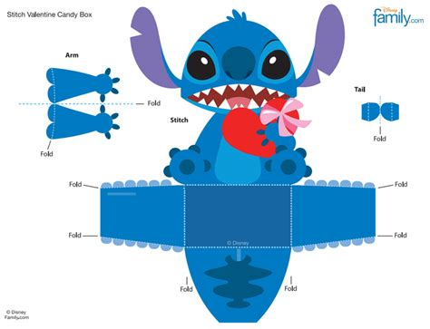 Stitch Papercraft - disney stitch template invitation templates cubecrafts