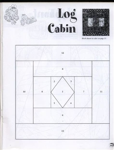log cabin paper piecing template the world s catalog of ideas