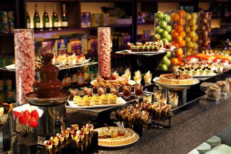 evening buffet picture of sheraton three dessert counter meritus hotels and resorts
