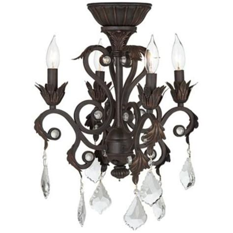 4 light rubbed bronze chandelier ceiling fan light kit