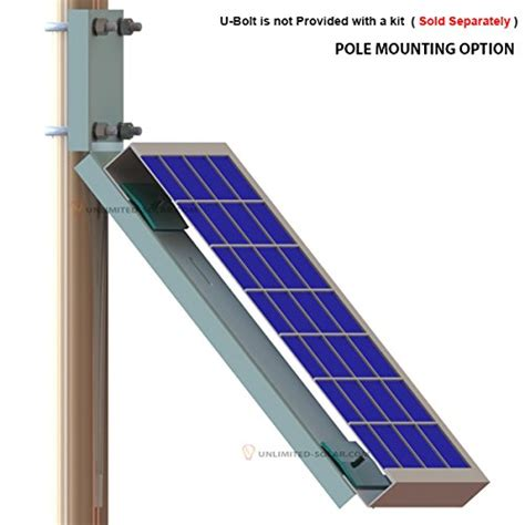Solar Pole L by Unlimited Solar Universal Solar Panel Side Of Pole Wall L