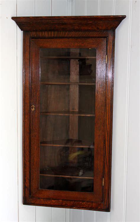 small solid oak corner wall cabinet antiques atlas