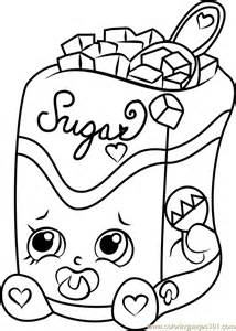 Sugar Lump Shopkins Coloring Page  Free Pages sketch template