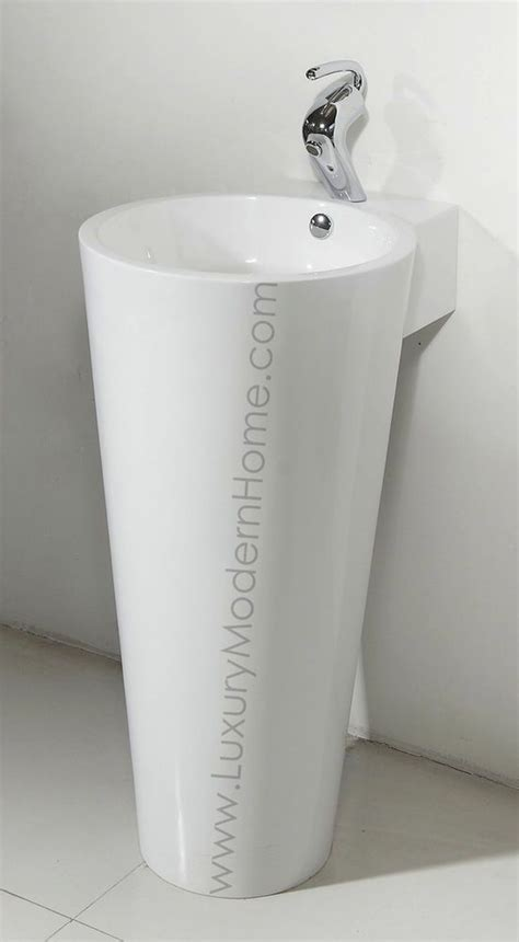 Modern Pedestal Bathroom Sinks by Sink 17 Quot 18 Quot Modern Bathroom Pedestal Sink Vase Cone