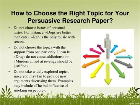 how to choose a topic for research paper ppt persuasive research paper topics powerpoint