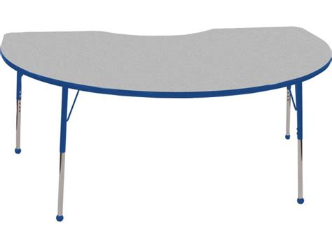 kidney shaped table for classroom ecr4kids adjustable kidney shaped classroom table 48 quot x72