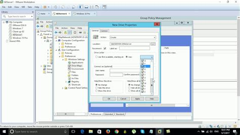 gpo mapped drives how to map network drive by gpo on server 2012