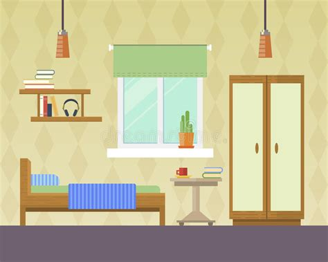 bedroom interior banners set in flat style vector vector illustration of bedroom stock vector image 57048765