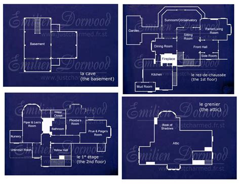 Halliwell Manor Floor Plans | charmed manor floor plans find house plans