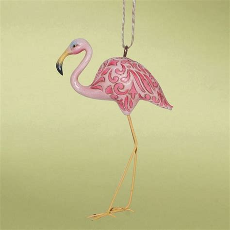 pink flamingo ornaments pink flamingo heartwood creek ornament 4014458