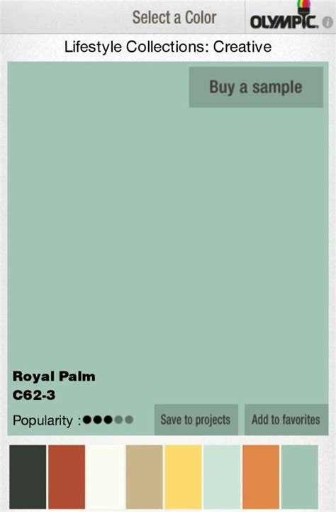 royal palm lowes olympic paint color combos