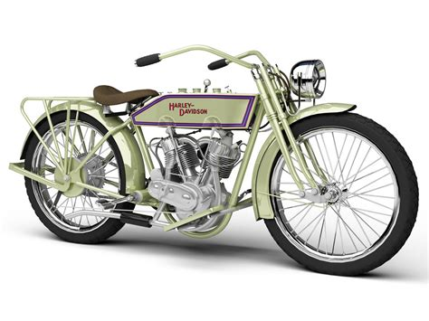 Harley Davidson Motorcycles Models by 3d Model Harley Davidson 11j 1915 Motorcycle