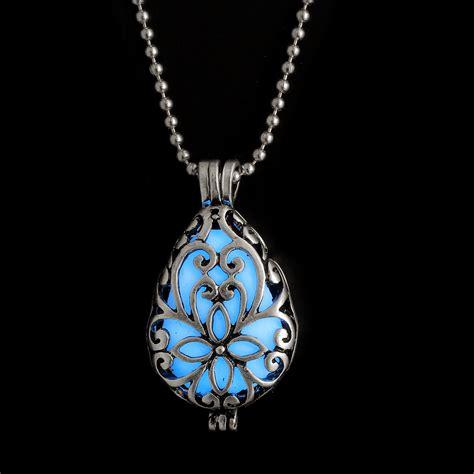steunk pretty magic locket necklace glow in