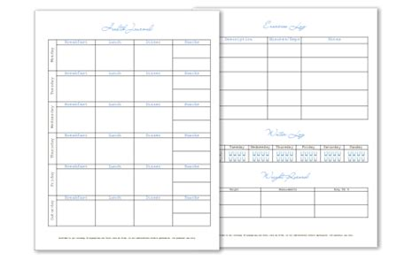 food journal chart printable food log printable new calendar template site