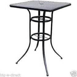 Black Wrought Iron Patio Table New Outdoor Patio 39 Black Bistro Wrought Iron Bar Height Table Metal Mesh Top Ebay