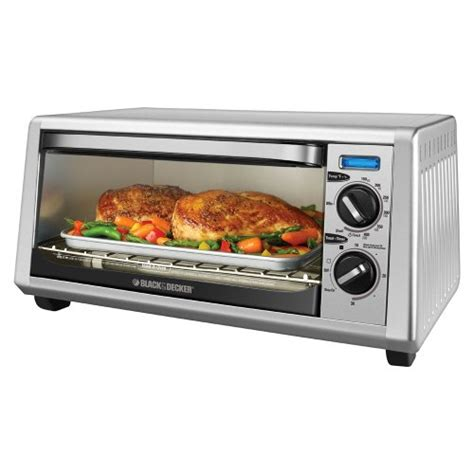 Black And Decker Toaster Oven Broiler black decker stainless steel toaster oven broiler 4 slice 050875805279