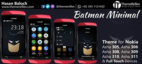 java themes nokia 305 batman minimal theme for nokia asha 305 asha 306 asha