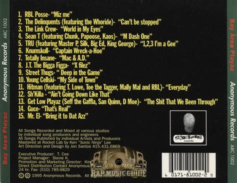 Kaos Ultimate Junior 15 bay area playaz the ultimate bay area rap compilation