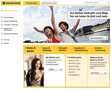 berliner bank de sinnerschrader h 252 bscht website der berliner bank auf
