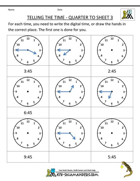 clock worksheets quarter past clock worksheet quarter past and quarter to