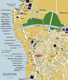 vallarta map of mexico map of vallarta s hotel zone mexico