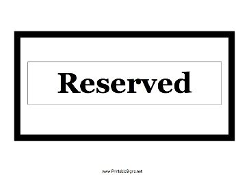 Printable Reserved Signs Freepsychiclovereadings Com Tabletop Signs Template