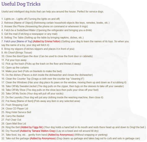 tricks list tricks ˁ ᴥ ˀ dogica 174 3d 300 new tricks list how to teach