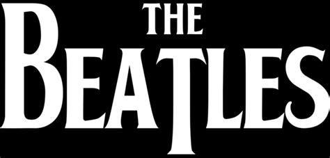 The Beatles Black Logo the beatles logos