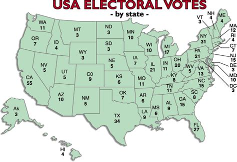 electoral map of the united states u s electoral vote map