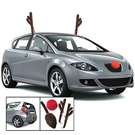 kovot reindeer car set includes car jingle bell antlers