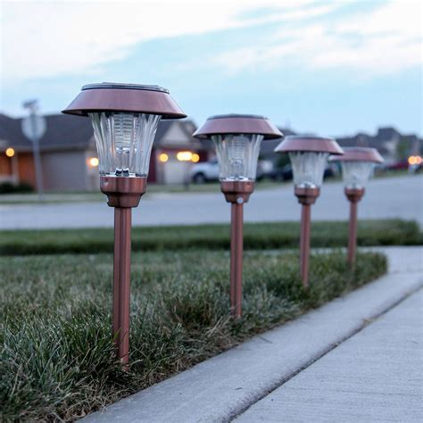 solar lights for shaded areas lights com solar solar landscape warm white copper