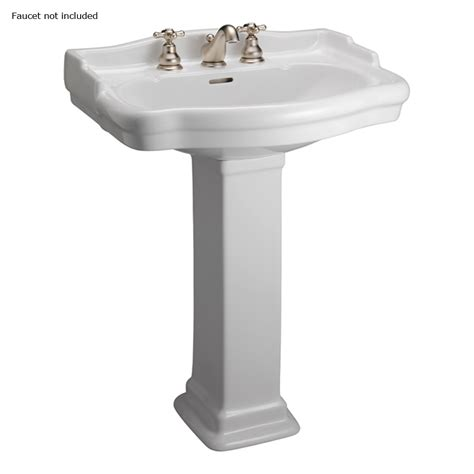 Shop Barclay Stanford 35.5 in H White Vitreous China Pedestal Sink at Lowes.com