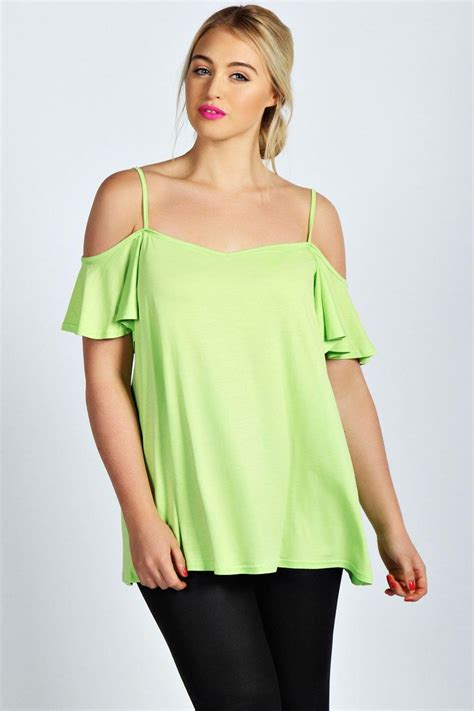 swing tops for women boohoo womens ladies amy frill sleeve swing plus size top