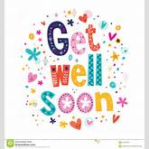 Get Well Soon Greeting Card Stock Vector - Image: 44403242