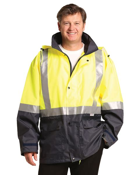 Jacket Parka 2 Tone sw28a hi vis two tone proof jacket with quilt lining